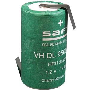 NiMH battery, D, 1.2 V, 9500 mAh, Z solder lug SAFT 791571