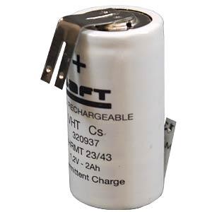 NiMH battery, 7/5 SubC, 1.2 V, 4200 mAh, Z solder lug SAFT 792076