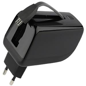 USB charger with power bank function, black D-PARTS 210860