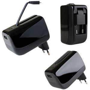 USB-Ladegerät mit integrierter Powerbank D-PARTS 210860