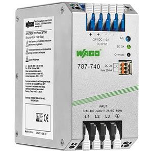Schaltnetzteil, Hutschiene, 240 W, 24 V, 10 A WAGO 787-740