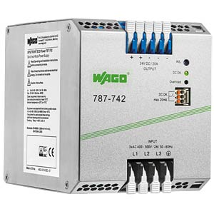 Primary clocked SV ECO/output DC 24 V/20 A WAGO 787-742