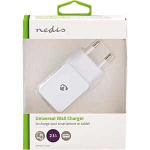 USB-Ladegerät, 5 V, 2100 mA, weiß NEDIS WCHAU211AWT