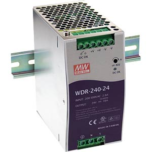Switching power supply, DIN rail, 240 W, 48 V/5 A MEANWELL WDR-240-48