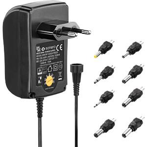 Universal switching power supply, 18 W, 3 - 12 V, 1500 mA SONERO X-PS025
