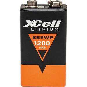 Lithium Batterie, 9-V-Block, 1200 mAh, 1er-Pack XCELL ER9V/P