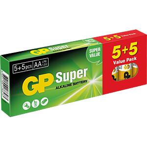 Alkaline Batterie, AA (Mignon), 10er-Pack GP-BATTERIES GPPCA15AS433
