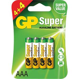 Alkaline Batterie, AAA (Micro), 8er-Pack GP-BATTERIES GPPCA24AS398
