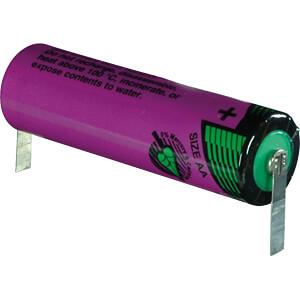 Lithium battery, AA, 2200 mAh, U solder tags, pack of one TADIRAN 1110760200