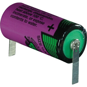 Lithium battery, 2/3 AA, 1500 mAh, U solder tags, pack of one TADIRAN 1110761200