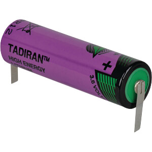 Litihium Batterie, AA, 2400 mAh, U-Fahne, 1er-Pack TADIRAN 1110360200