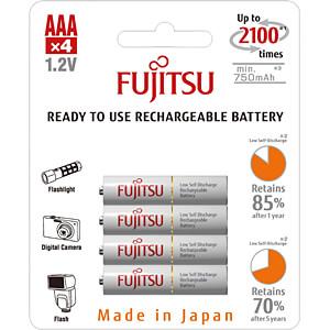 NiMh-batterij, AAA (micro), 800 mAh, verpakking van 4 FDK