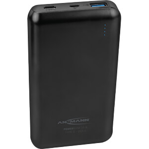 Powerbank, Li-Po, 15000 mAh, QC, USB-C ANSMANN 1700-0096
