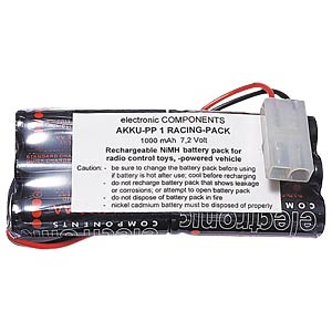 Battery pack, NiMh, 7.2 V, 1.1 Ah, 6 cells FREI