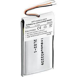 200mAh, Li-Pol, voor iPod Nano 1e generatie FREI
