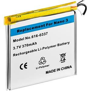 MP3-Player Akku für Apple iPod nano 3G, Li-Ion, 370 mAh FREI