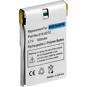 230 mAh, Li-Pol, for iPod Shuffle 1st generation FREI