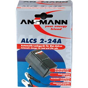 Charger for 2, 6, 12, 24 V, 2-24 AH PB batteries ANSMANN 9164016