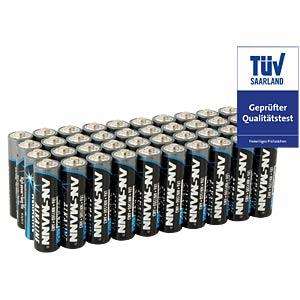 40-pack of Ansmann alkaline AA batteries ANSMANN