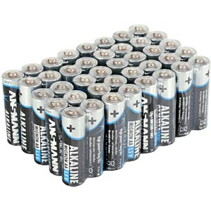 40-pack of Ansmann alkaline AA batteries ANSMANN