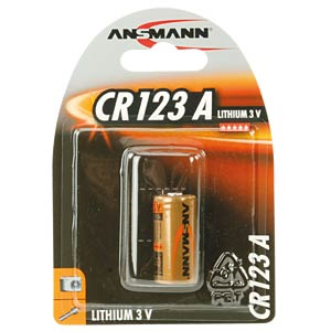 Lithium Batterie, CR123A, 1500 mAh, 1er-Pack ANSMANN 5020012