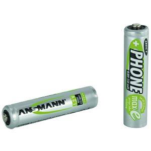 Micro, AAA batteries, 2 x 550 mAh DECT ANSMANN 5035523