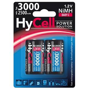 HyCell, NiMh Akku, C (Baby), 3000 mAh, 2er-Pack ANSMANN 5035302
