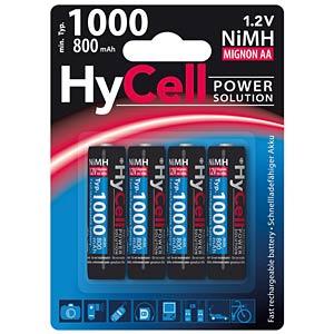 HyCell, NiMh Akku, AA (Mignon), 1000 mAh, 4er-Pack ANSMANN 1312-0008