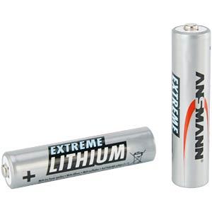 Lithium Batterie, AAA (Micro), 1200 mAh, 2er-Pack ANSMANN 5021013