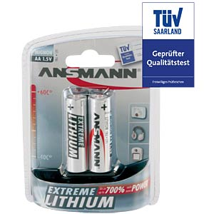 Ansmann Lithiumzellen, Mignon, AA, 2er Pack ANSMANN 5021003
