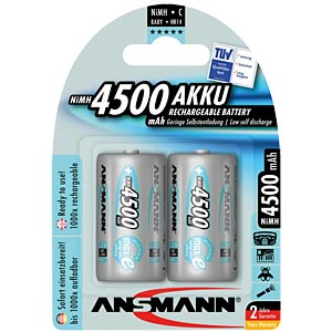 ANSMANN maxe accu's, 2xBABY, 4500mAh ANSMANN 5035352