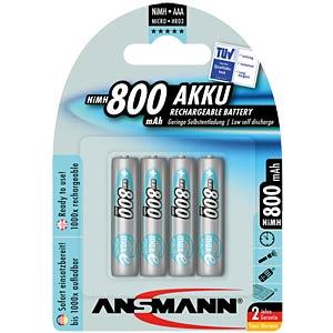 ANSMANN maxE batteries, 4x AAA, 800 mAh ANSMANN 5035042