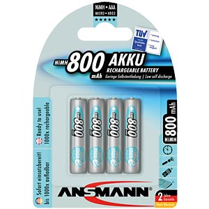 maxE, NiMh Akku, AAA (Micro), 800 mAh, 4er-Pack ANSMANN 5035042