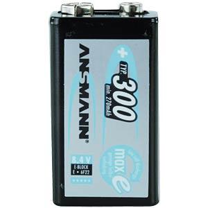 maxE, NiMh Akku, 9-V-Block, 300 mAh, 1er-Pack ANSMANN 5035453