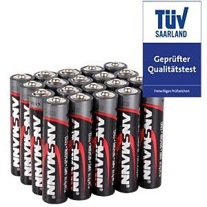 Red, Alkaline Batterie, AAA (Micro), 20er-Pack ANSMANN 5015538
