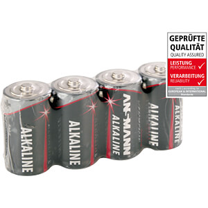 Red, Alkaline Batterie, C (Baby), 4er-Pack ANSMANN 5015571