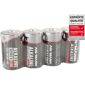 Red, Alkaline Batterie, D (Mono), 4er-Pack ANSMANN 5015581