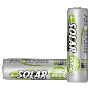 Solar, NiMh Akku, AA (Mignon), 800 mAh, 2er-Pack ANSMANN 5035513