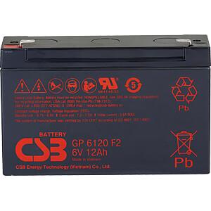 Blei-Vlies-Akku, 6 V, 12 Ah, Standby USV CSB GP6120F2