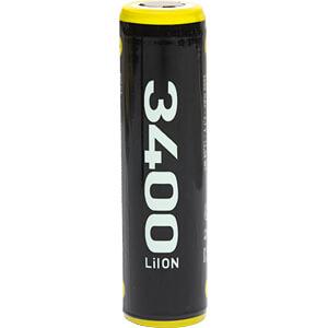 Industriezelle, Li-Ion, 18650, 3,6 V, 3400 mAh, Button Top ECELL ECE186503400