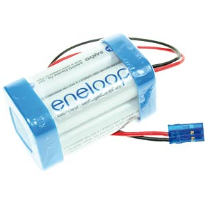 Rechargeable battery pack, NiMh, 2 Ah, 4.8 V, 4 cells, cube SANYO
