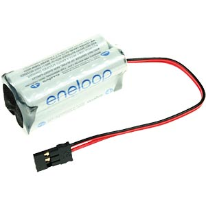 Rechargeable battery pack, NiMh, 750 mAh, 4.8 V, 4 cells, cube SANYO