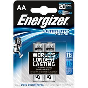 Lithium Batterie, AA (Mignon), 3000 mAh, 2er-Pack ENERGIZER 639154