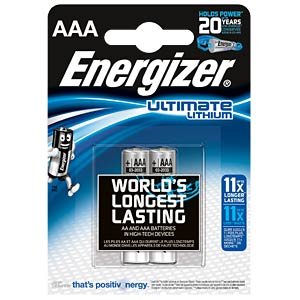 Lithium Batterie, AAA (Micro), 1250 mAh, 2er-Pack ENERGIZER 639170