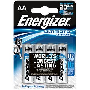 Energizer lithium battery, 4x LR6, 1.5V ENERGIZER 639155