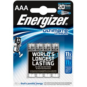 Lithium Batterie, AAA (Micro), 1250 mAh, 4er-Pack ENERGIZER 639171