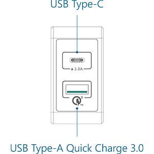 USB-oplader, 5 V, 3000 mA, USB-C FANTEC 1952