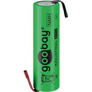NiMh battery, AA (Mignon), 2100 mAh, 1-pack GOOBAY 55509