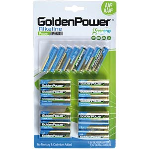 Pack of 20 Golden Power AA/AAA batteries GOLDEN POWER GLR603ABC12+8