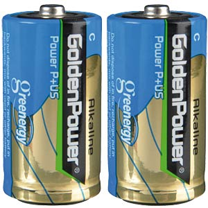Alkaline Batterie, C (Baby), 2er-Pack GOLDEN POWER GLR14ASP2